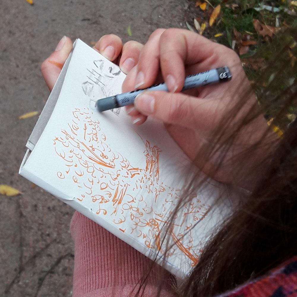 Urban Sketching Walkshop Wilhelmsburg