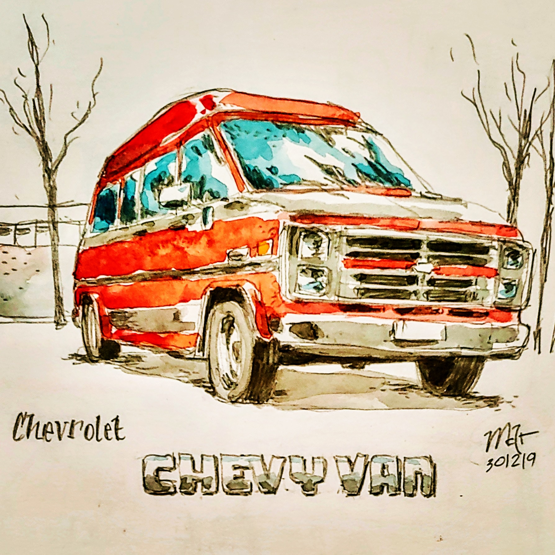 campers of hamburg - chevy-van