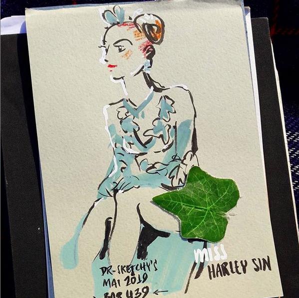 dr. sketchy - Miss Harley Sin