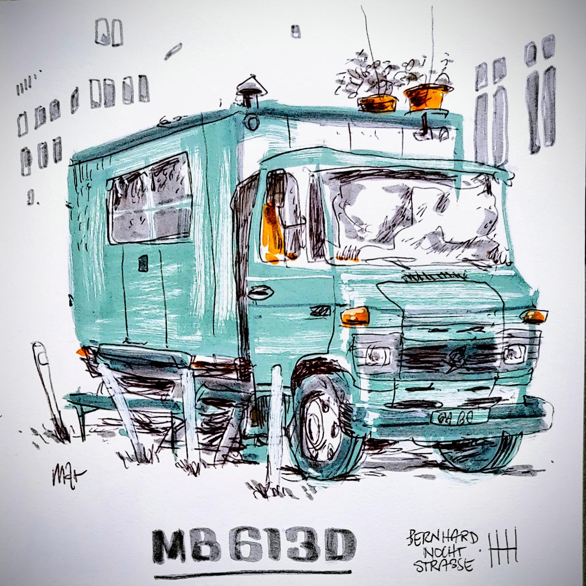 campers of hamburg - mb 613 d