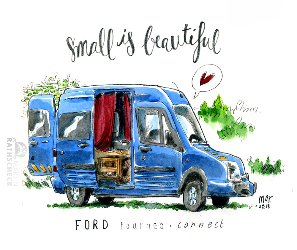 campers of hamburg - ford tourneo connect