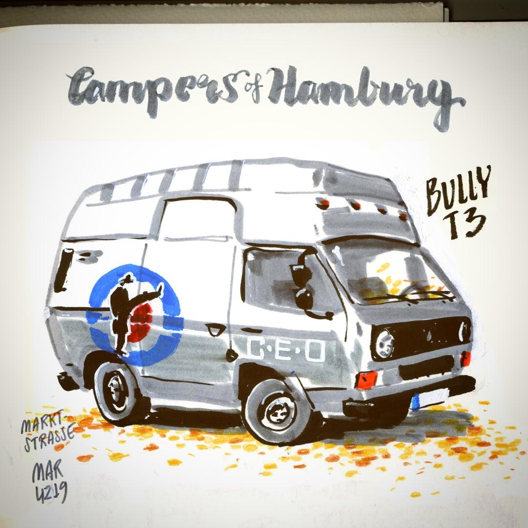 campers of hamburg - vw t3