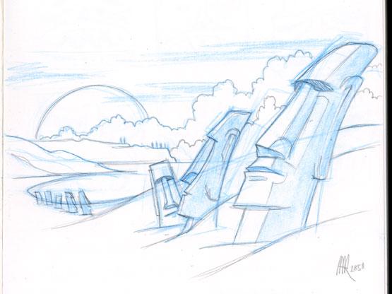 moai skizze